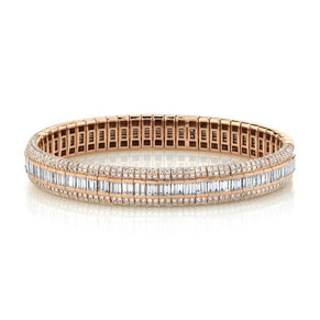 DIAMOND PAVE SCALES STRETCH BRACELET