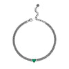 EMERALD HEART MINI PAVE LINK NECKLACE