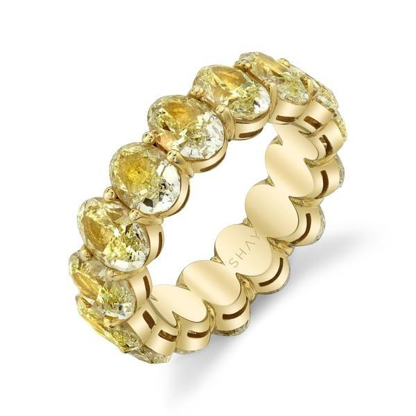 YELLOW DIAMOND OVAL ETERNITY BAND