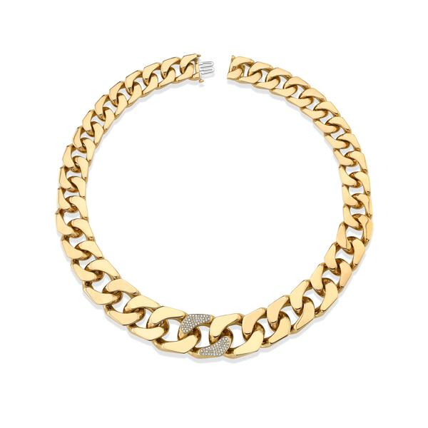 GOLD PUZZLE FLAT LINK NECKLACE