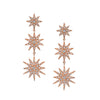 PAVE DIAMOND DROP LINK EARRINGS