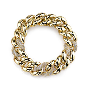 READY TO SHIP DIAMOND TRIPLE PAVE JUMBO LINK BRACELET