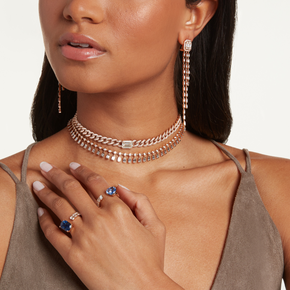 DIAMOND DOT-DASH CHOKER