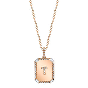 MINI INITIAL NAMEPLATE NECKLACE