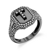 PARTIAL PAVE INITIAL PINKY RING