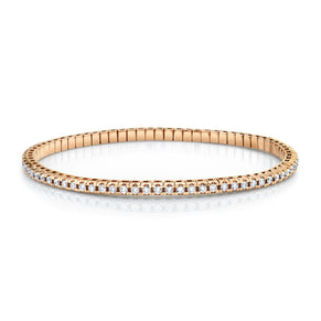 READY TO SHIP DIAMOND TENNIS STRETCH BRACELET, 2.2cts
