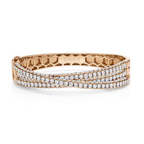 DIAMOND 3 SIDED ORBIT BANGLE