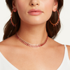READY TO SHIP RUBY BAGUETTE DANGLE HOOPS