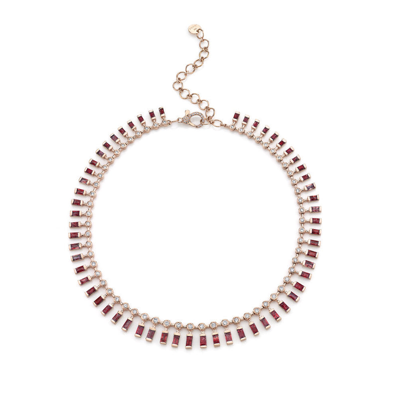 RUBY & DIAMOND DOT-DASH CHOKER