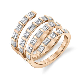 DIAMOND QUAD SPIRAL RING