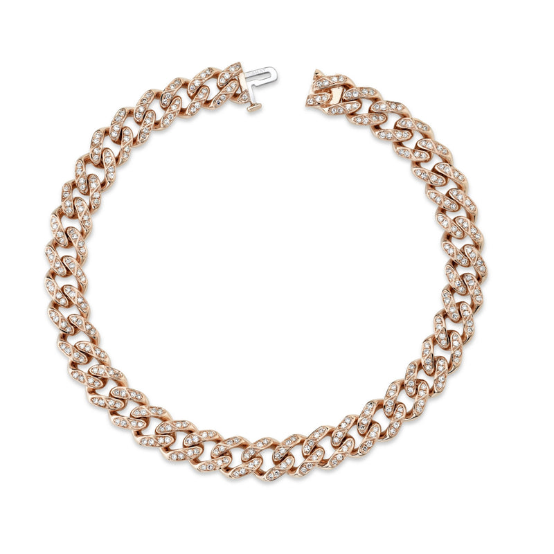 DIAMOND FLAT MEDIUM LINK BRACELET