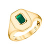 EMERALD CUT TWIN RING