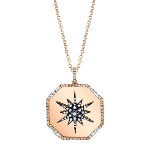FULL PAVE OCTAGON LOCKET NECKLACE