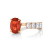 FLOATING ORANGE SAPPHIRE & DIAMOND RING