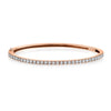 NAMEPLATE BANGLE W/ BAGUETTE DIAMOND ACCENTS