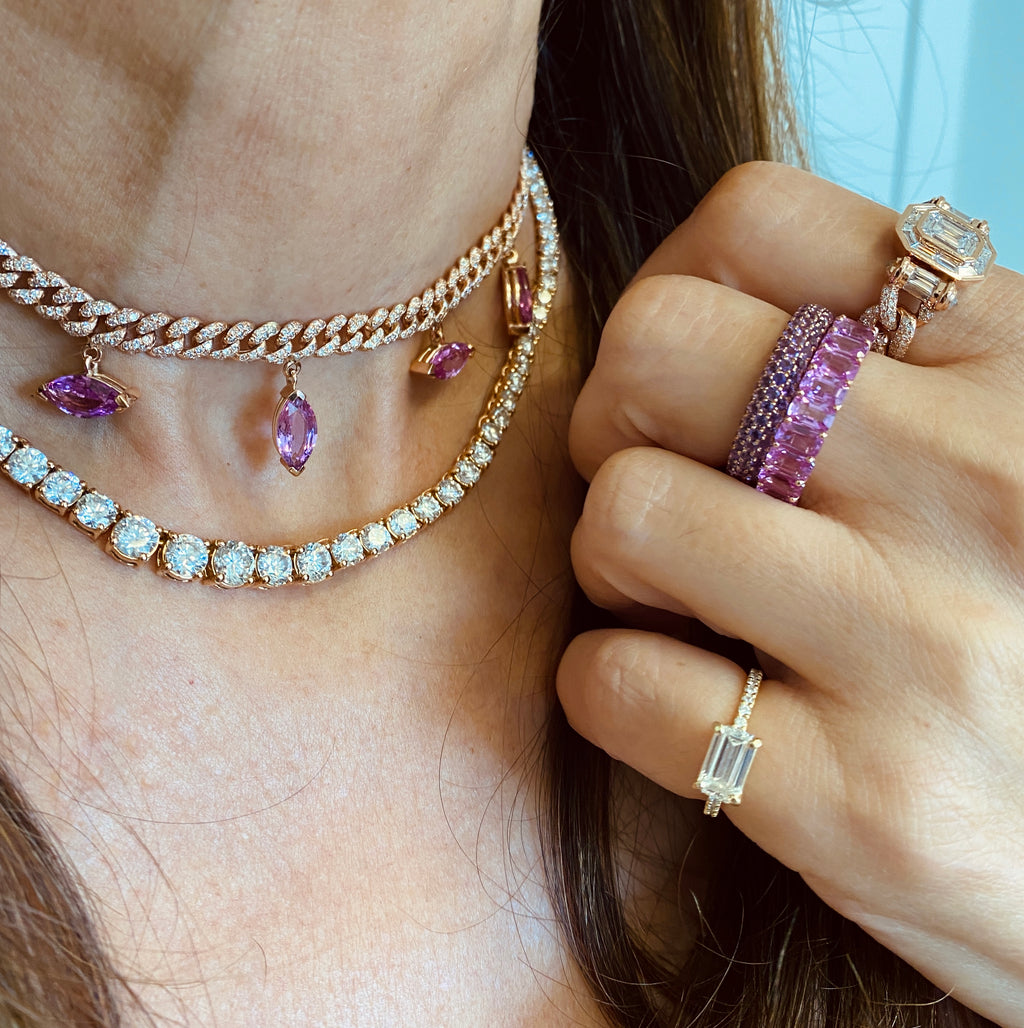 AMETHYST INSIDE & OUT ETERNITY BAND