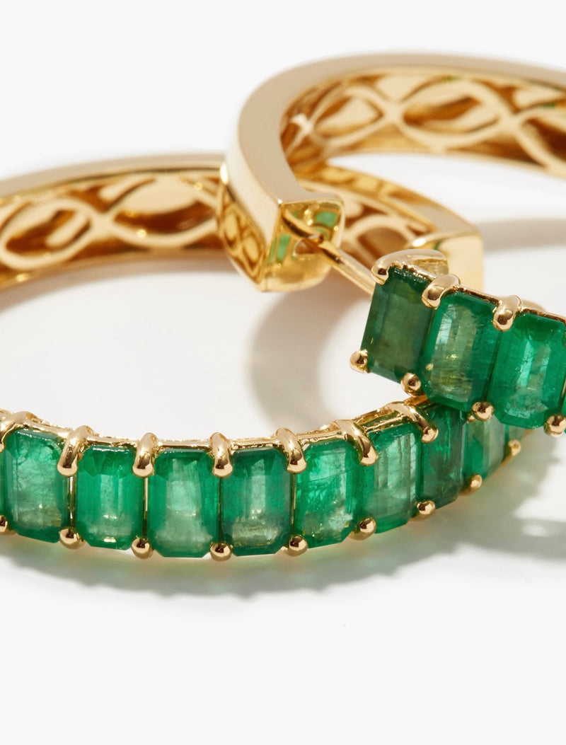 EMERALD ETERNITY HOOPS