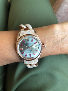 CUSTOM TWO-TONE ROSE GOLD WATCH