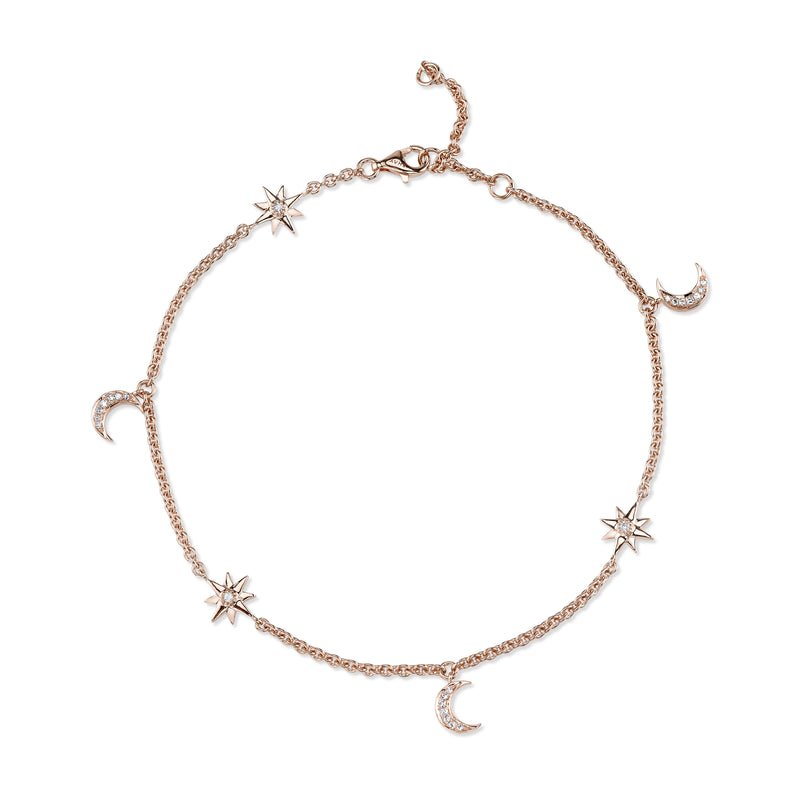 MOON & STAR ANKLET