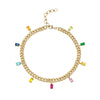 BEZEL DIAMOND STATION ANKLET