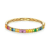 HALF BAGUETTE CUT GEMSTONE BANGLE