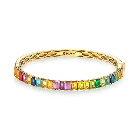 TRIPLE BEZEL BAGUETTE BANGLE