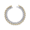 DIAMOND PAVE TWO-TONE ESSENTIAL LINK BRACELET