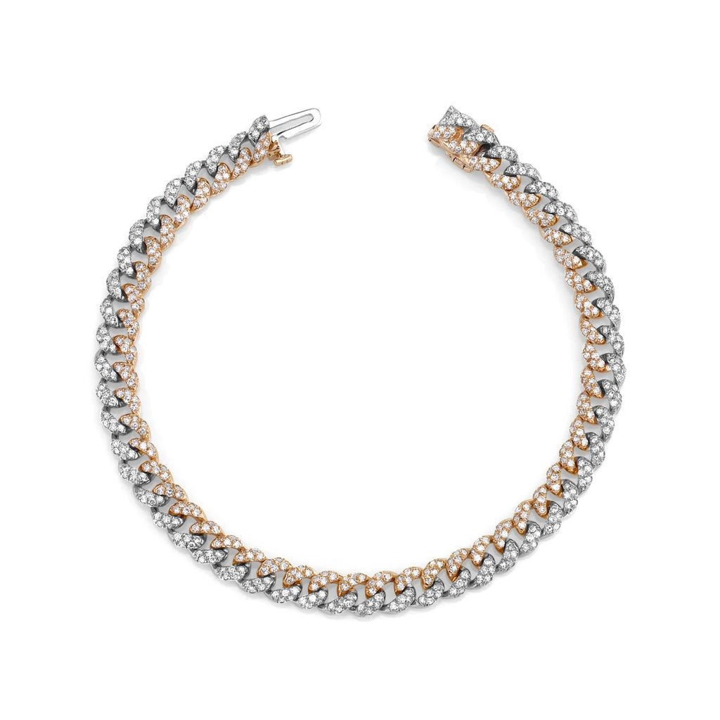 TWO-TONE MINI PAVE LINK BRACELET