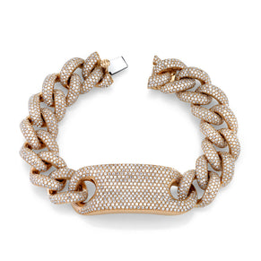 READY TO SHIP DIAMOND PAVE ID JUMBO LINK BRACELET