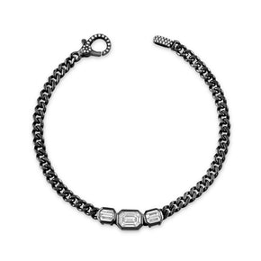 DIAMOND TRIPLE ILLUSION BABY LINK BRACELET