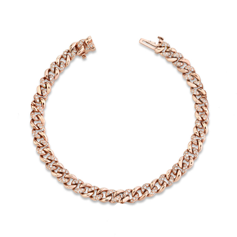 DIAMOND ALTERNATING PAVE MINI LINK BRACELET