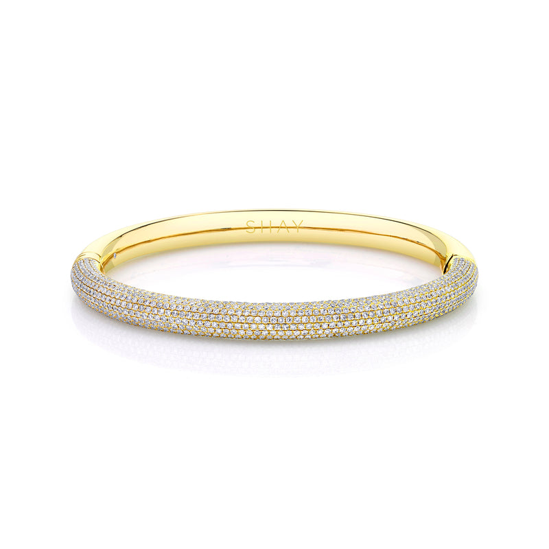 DIAMOND PAVE MICRO BANGLE, 1/2