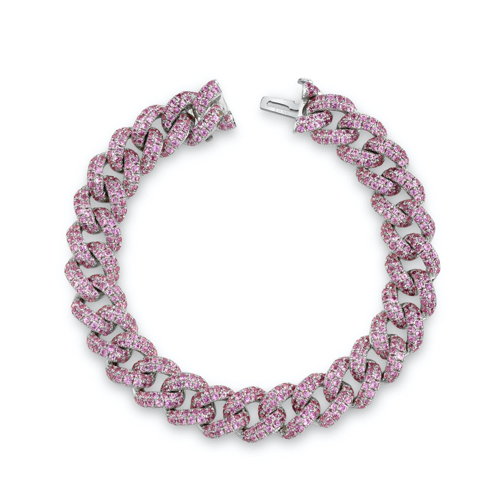 PINK SAPPHIRE PAVE ESSENTIAL LINK BRACELET