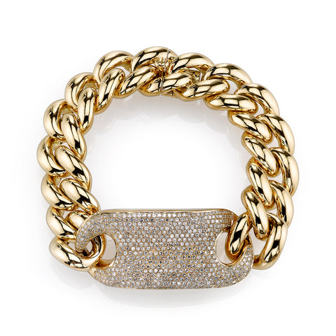 LINK BRACELET W/ MIXED DIAMOND CLASP