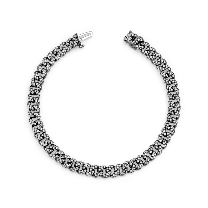 DIAMOND PAVE MINI LINK BRACELET