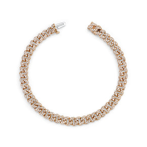 READY TO SHIP DIAMOND PAVE MINI LINK BRACELET