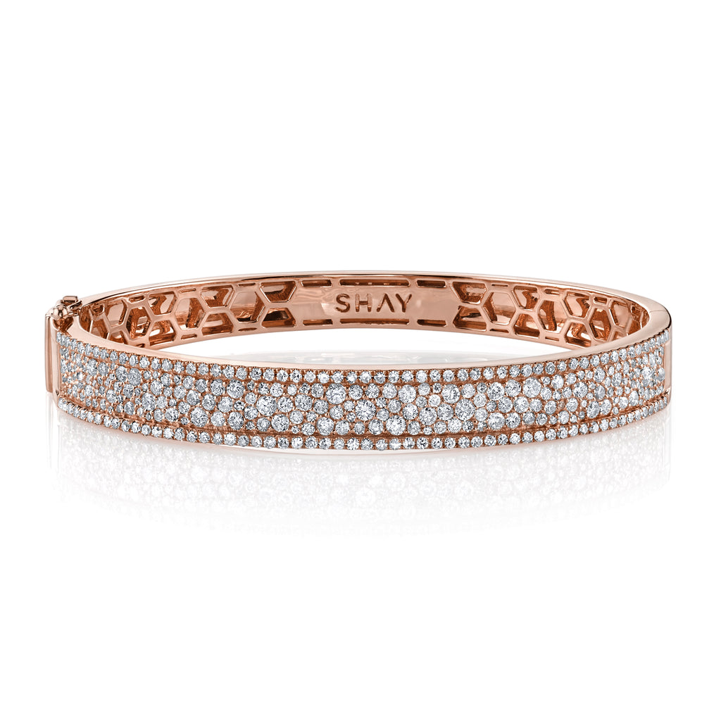PAVE DIAMOND NAMEPLATE BANGLE