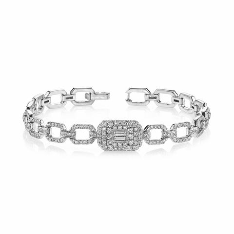 MIXED DIAMOND TENNIS BRACELET