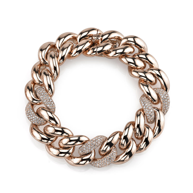 READY TO SHIP TRIPLE PAVE JUMBO LINK BRACELET