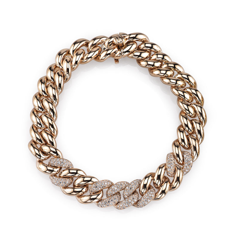 DIAMOND 5 PAVE ESSENTIAL LINK BRACELET
