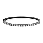 DIAMOND BAGUETTE HALF SINGLE ROW BANGLE