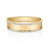 ALTERNATING PAVE DIAMOND NAMEPLATE LINK RING