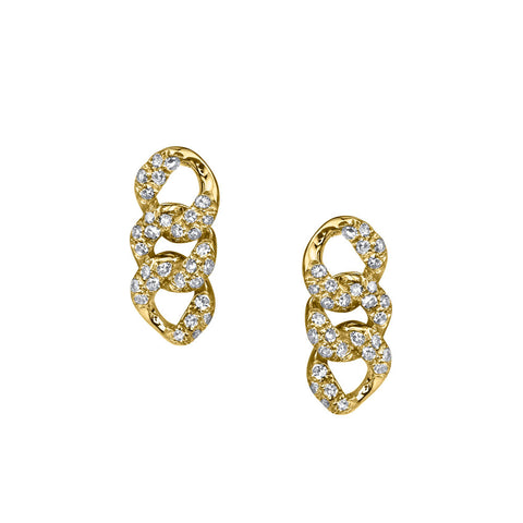 PAVE BAGUETTE DROP HOOPS