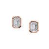 EMERALD CUT ILLUSION STUDS