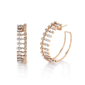 DIAMOND DOT-DASH HOOPS