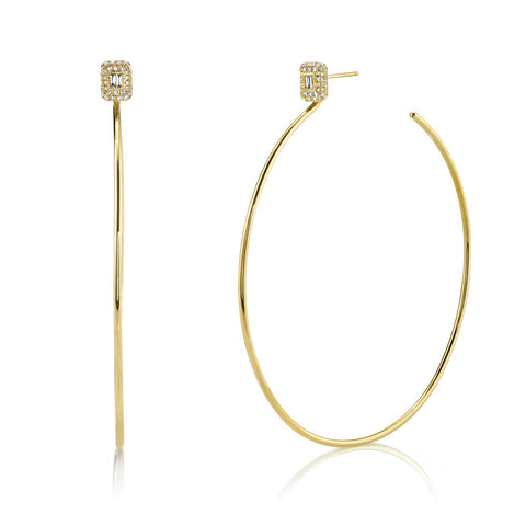 LOOP DIAMOND HOOPS