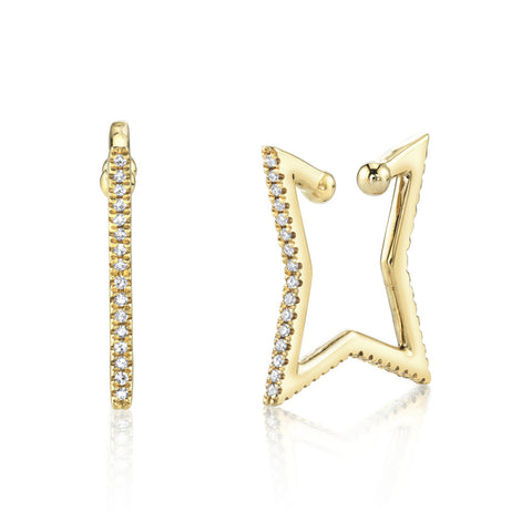 BIG BAGUETTE DIAMOND EAR CUFF