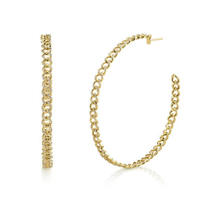 LARGE PAVE LINK HOOPS