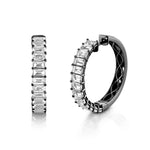 WHITE TOPAZ ETERNITY HOOPS