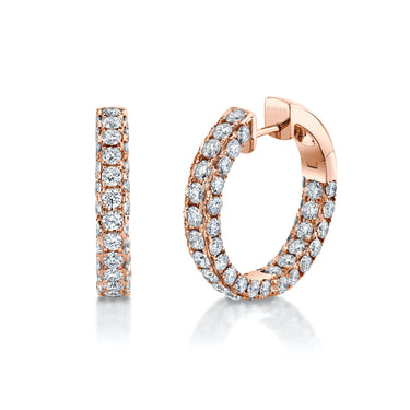 3 SIDED DIAMOND HOOPS